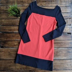 Milly of New Yorker Colorblock Bateau Dress